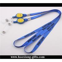 China EU standard blue color quality custom design  lanyard with any accessories wholesale
