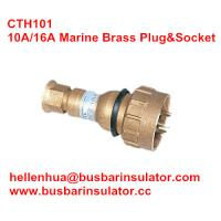 Wholesale 10A/16A marine brass plug&socket CTH101 high current brass electrical plug in bulk from china suppliers