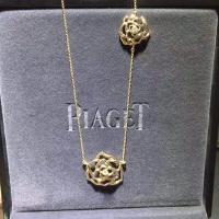 Quality Piaget Rose necklace brand jewelry diamonds necklace 18kt gold for sale