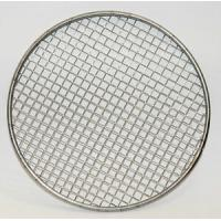 China 50 100 Micron Rimmed Stainless Steel Filter Mesh Disc Round Hole Shape Plain Weave wholesale