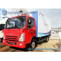 China FAW 5000KG Refrigerated Van Truck Red Sea Food Transport Truck wholesale