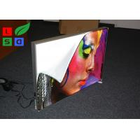China 28mm Depth Thin LED Fabric Light Box On / Off Switch For Art Show And Exhibition wholesale