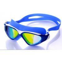 China High Performance Swimming Goggles , Eye Goggles For Swimming Blue Color wholesale