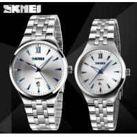 China Skmei Mens Analog Quartz Waterproof Business Casual Wrist Watch Stainless Steel Band  9071 wholesale