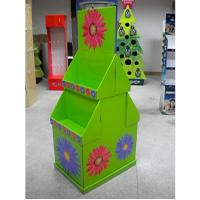 China 2 tier colorful graphic cardboard display stands / POP display racks for exhibit,  shop wholesale