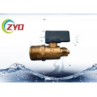 China Mini Brass Water Shut Off Valve , Copper Ball ValveFor Water Air / Gas wholesale