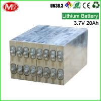 China Dry Recharge Prismatic Cells Lithium Ion Battery For Golf Trolley 3.7V 20Ah wholesale