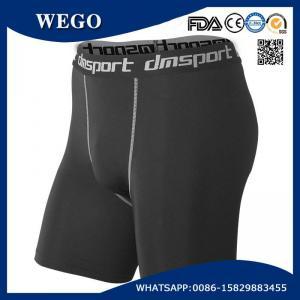 China Promotional Short Pants Men Black Sports Workout Fitness Compression Tights Base Layer Shorts wholesale