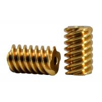 Quality Customized Small Brass Pinion Gear 4 Lead DP 48 C36000 For Gear Motor for sale