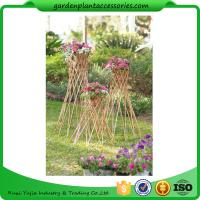 "China Outdoor Bamboo Garden Willow Garden Trellis 4"" In Diameter On A 57-1/4"" H Stand wholesale"