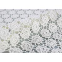 China Cotton Dying Lace Fabric Guipure French Venice Lace Wedding Dress Fabric Openwork wholesale