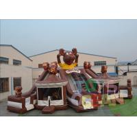 China Outdoor Chocapic Giant Inflatable Bouncer Combo with 3 Slides Commercial Inflatable Bouncer wholesale