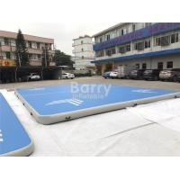 Buy cheap Custom Square Large Blue Air Track Gymnastics Tumbling Mat For Cheerleanding Or from wholesalers