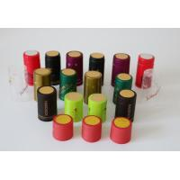 China Water Proof Black Heat Shrink Capsules Heat Shrink Bottle Caps 24mm - 33mm wholesale