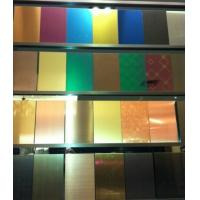 China SUS316L Etching Colored Stainless Steel Sheets ,PVD Decoration Sheets 1250mm 1500mm Rose gold, Brown, Bronze, Black wholesale