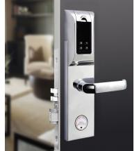 China Durable Fingerprint RFID Door Lock , Rfid Reader Door Lock 120 User Capacity wholesale