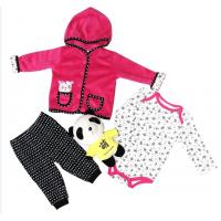 China Newborn Baby Girl Winter Clothes Jacket 220G Coral Fleece 100% Polyester wholesale