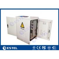 China IP55 22U Outdoor Communication Cabinets Single Layer With Front / Back Door wholesale