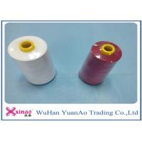 China 20/2/3/4 High Tenacity 100% Polyester Sewing Thread  White Red on sale