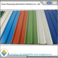 China 5052 1.2mm Corrugated Roof Panels / Wave Tile Aluminum Plate For Construction wholesale