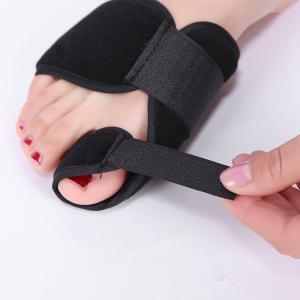 China Bunion Aid Bunion Treatment Splint Black Adjustable Hallux Valgus Support wholesale