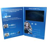 China VIF Free Sample Magnetic switch graduations digital video brochure 7 inch  with A4 / A5 paper for business invitations wholesale