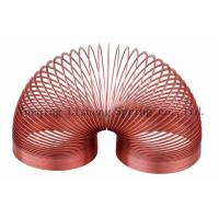 China Red Color Slinky Walking Spring Toy , Metal Slinky Toy Educational Charts wholesale