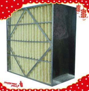 China 592x592x292mm (24″×24″×12″) synthetic fiber medium efficiency  pleated rigid box filter wholesale