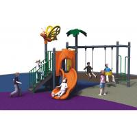 Kindergarten Freestanding Playground Equipment Child Outdoor With Swing And Slide