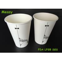China Popular 16oz disposable coffee cups , Hot Milktea Single Wall Paper Cups 500ml Capacity wholesale