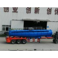 China Concentrated Sulfuric Acid Tanker Truck V Shape 21000L H2SO4 98% Tri Axle BPW on sale