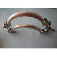 China Heavy Duty Golden Metal Pipe Clamp , Adjustable Pipe Mounting Clamps 1.1~2.0mm wholesale