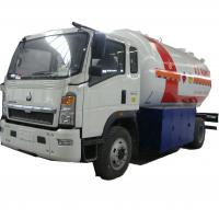 China hot sale!high quality SINO TRUK HOWO 10,000Liters lpg gas refilling truck, lpg gas truck for domestic gas cylinders wholesale