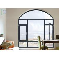 China A Rated Storm Impact Arched Aluminium Windows , Soundproof Aluminium Curved Windows wholesale