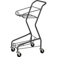 China Galvanized Supermarket Shopping Cart , Four Wheeled Basket Trolley HBE-J-7 wholesale