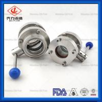 China 304 316L Stainless Steel Butterfly Valve Flange Ends Manual Butterfly Valve on sale