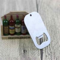 China Cheap Promotion Gift Blank Engrave Logo Stainless Steel Dog Tag Bottle Opener with Ball Chain on sale