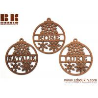 China WOOD CHRISTMAS ORNAMENTS BLANKS ROUND to paint christmas decoration on sale