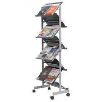 China Trade shows Double side Literature Postcard Magazine Display Rack floor stands 8 shelves wholesale