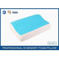 China Softest Contour Dream Flat Memory Foam Pillow Stomach Sleeper , gel pillow case wholesale