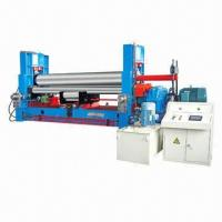China Hydraulic 3-Roll Plate Bending Machine, W11S Series, 3000 to 6000mm Width wholesale