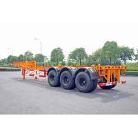 China Steel Tank Container Trailer Chassis / 40 ft Gooseneck Trailer 3 Axles wholesale