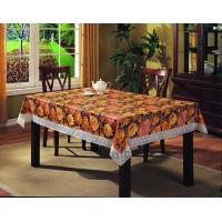 China pvc tablecloth with flannel backing on sale