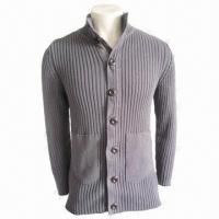 China IKRR Unisex Sweater in Gray, Fashionable Wear, Made of 100% Cotton wholesale