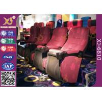 China Mesh Fabric Upholstered Foldable Assembly Hall Chairs With Leatherette Headrest Row Number wholesale