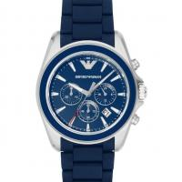 China Wholesale Mens Emporio Armani AR6068 Blue Sportivo Silicone Chronograph Watch wholesale