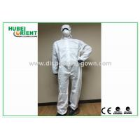 Wholesale SMS Type 5 6 disposable coverall suit / Anti Virus disposable protective coverall from china suppliers