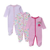 China Customized Color Soft Infant Baby Clothes Comfortable Cotton Baby Garment grils wholesale