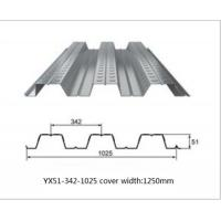 China Galvanized Metal Floor Decking Sheets 38 - 113 Mm Wave Height 60 - 275g/M2 Zinc Weight wholesale