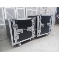 China 2U-24U Black Plywood Shockproof Rack Case With Foam Honeycomb Inside wholesale